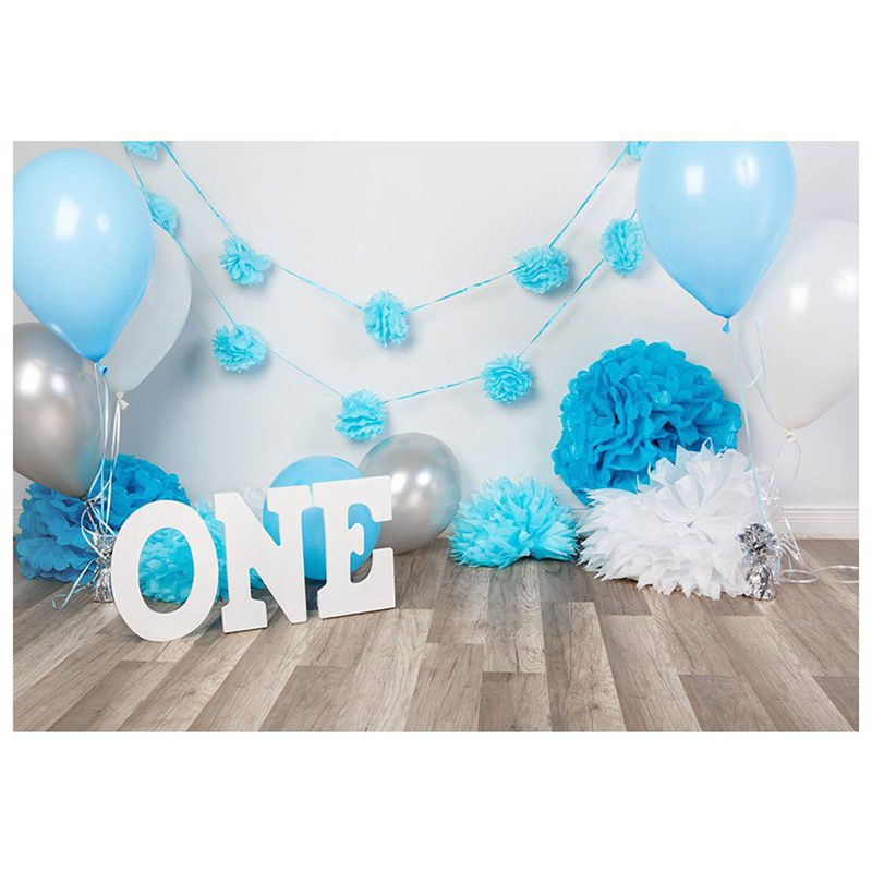 7x5ft Photography Backdrops Baby Boys 1st Birthday Blue Balloons Flowers Party Banner Studio Booth Shopee Malaysia