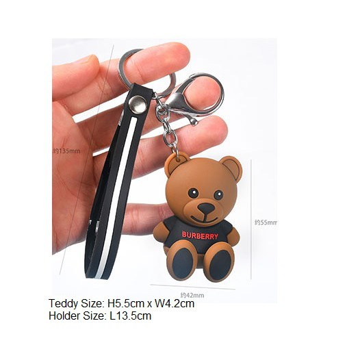 superior quality 50% price excellent quality Teddy Bear Keychain Designer Series Burberry | Shopee Malaysia