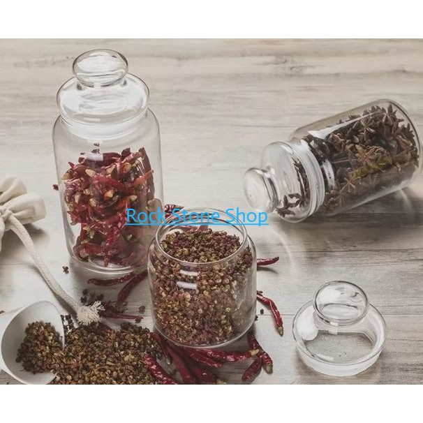 Airtight Storage Glass Jar For Spice Sweet Snacks Food Container   Balang Kaca Kedap Udara Kuih Raya   密封储存玻璃罐