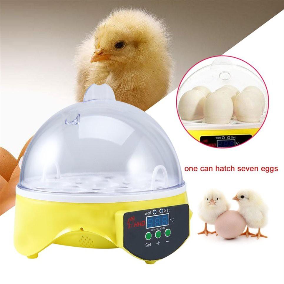 Unique Automatic 7 Eggs Turning Incubator Chicken Hatcher Temperature  Control