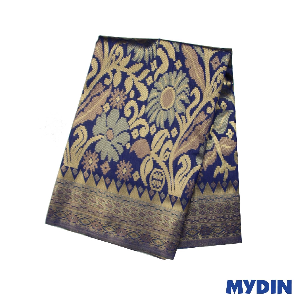 "Men Sampin - Gold On Blue with Designs (2.25m X 36"") 0819PECDD01 #Raya"