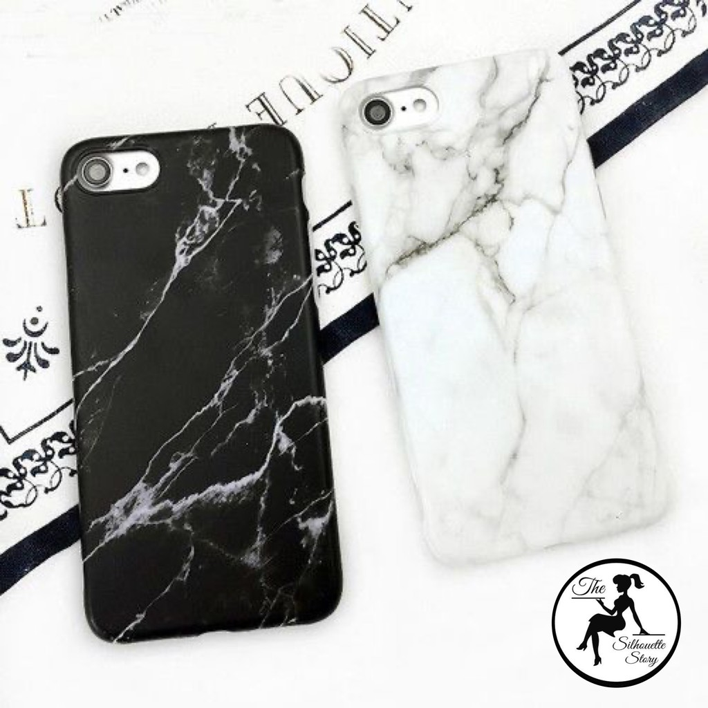 Granite Marble Black Texture Pattern Phone Cases Hard PC Case for iPhone 6 / 6S