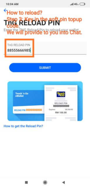 Tng E Wallet Reload Top Up Soft Pin Provided Shopee Malaysia