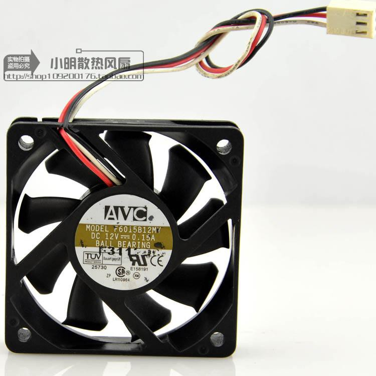 for AVC 6015 6cm cm 12V 0.15A F6015B12MY Double Ball Mute Chassis Cooling Fan