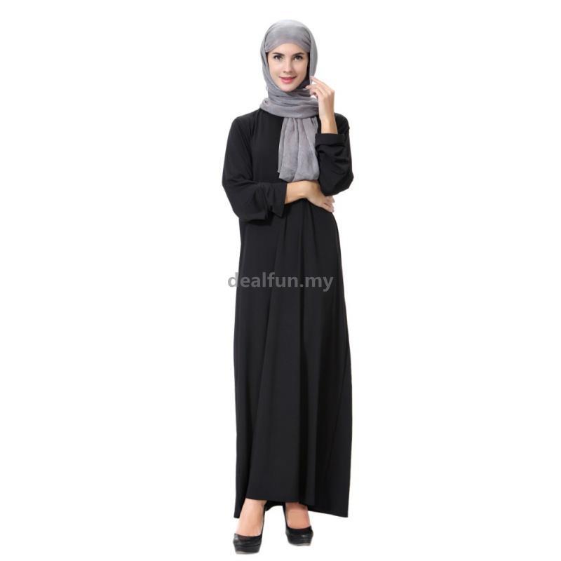 f28f2bc9563 Women Long style Muslim Islamic Robe Kimono Instant Hijab Arab ...