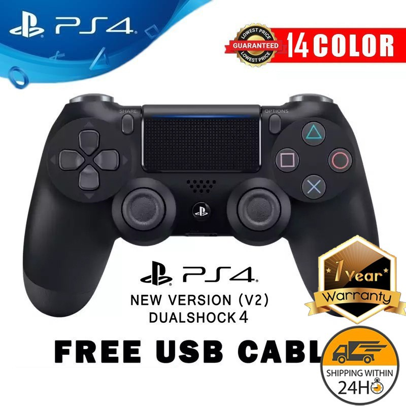 Ps4 Dualshock 4 Wireless Controller V20 Ps4 Controller Support Pcwin1 Year Warranty