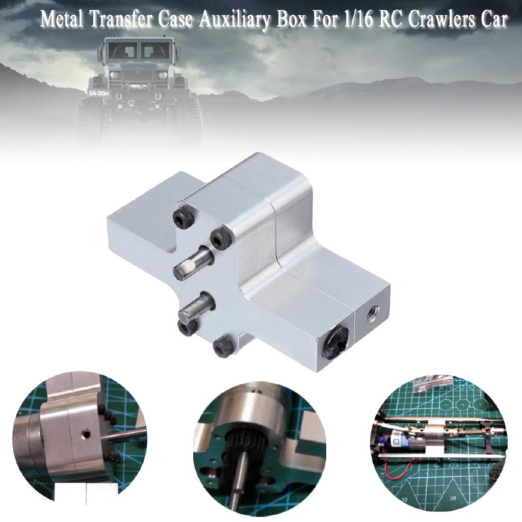 Metal Transfer Case Auxiliary Box Accessories For 1/16 RC Crawlers Car Model