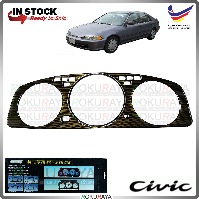 [CARBON KEVLAR] Honda EG SR4 TYPE R SPOON MUGEN Manual Automatic Meter Panel Garnish Decoration Cover Car Accessories