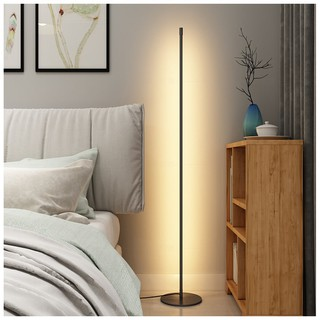 Nordic Minimalist Led Floor Lamps Standing Lamps Living Room Led Black White Aluminum Luminaria Standing Lamparas Shopee Malaysia