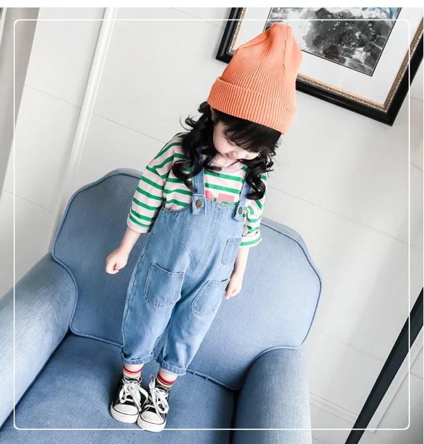 [80cm~120cm] Boy & Girl Fashion Denim Jumpsuit 新款春秋装男女宝宝牛仔背带裤1-5岁4婴儿童宽松牛仔长裤潮3