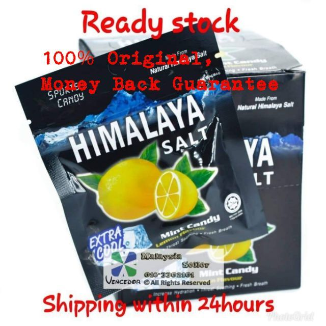 Himalaya Salt Extra Cool Mint Lemon Flavour Sport Candy (15g)
