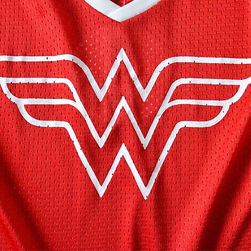 Wonder Woman V Neck Mesh Juniors T-Shirt