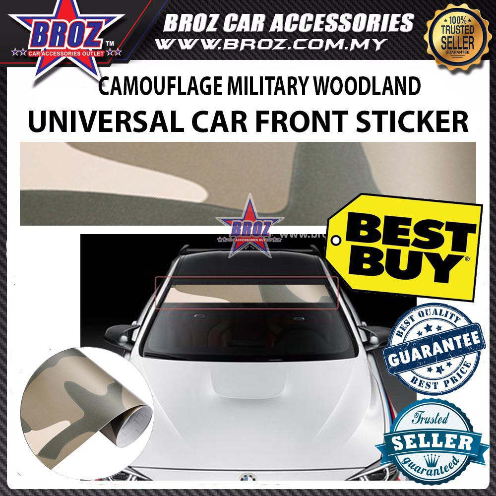 Productimage productimage army beige green camouflage universal wrap car front rear window sticker
