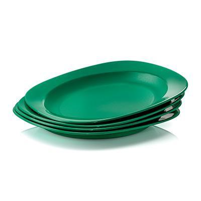 Tupperware tableware emerald plate (4pcs)