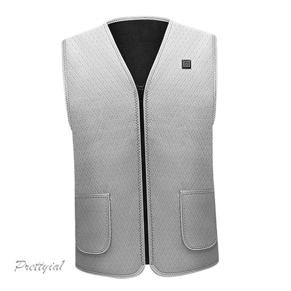 5 in 1 Electric Vest Heated Jacket USB Thermal Warm Heated Pad Winter Warmer