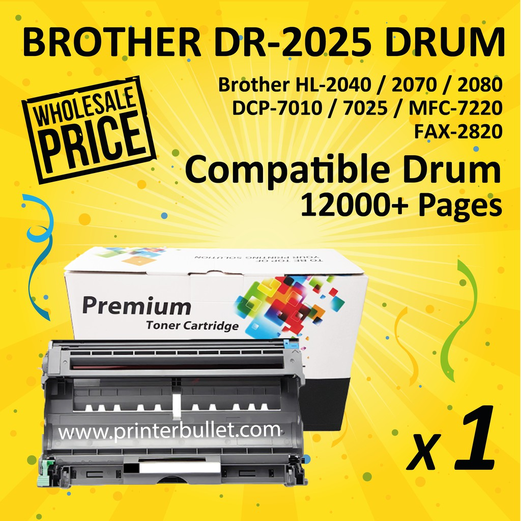 Brother DR2025 / DR-2025 High Quality Compatible Drum Kit