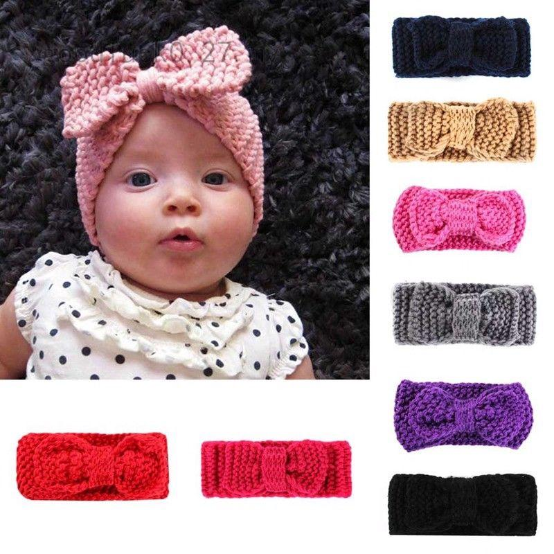 2558a079a 1pcBaby s Turban Warm Headband Crochet Knitted Headwrap Accessories ...