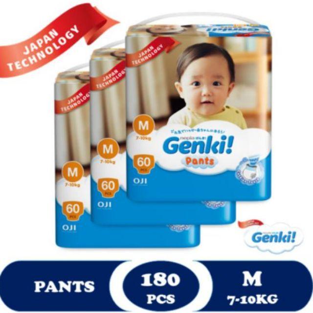 Genki Pants Mega - M60 x 3 Packs (180s)