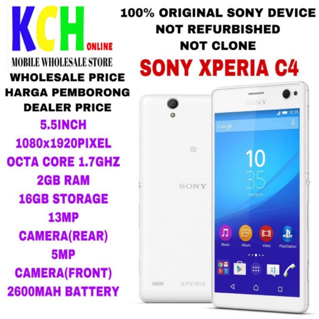 SONY XPERIA C4(2+16GB)(100% ORIGINAL SONY DEVICE)(USED IN PERFECT CONDITION)