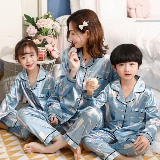 Generic Mens Leisure Satin-Silk-Like Shirts Sleepwear Night Loungewear Pajama Sets