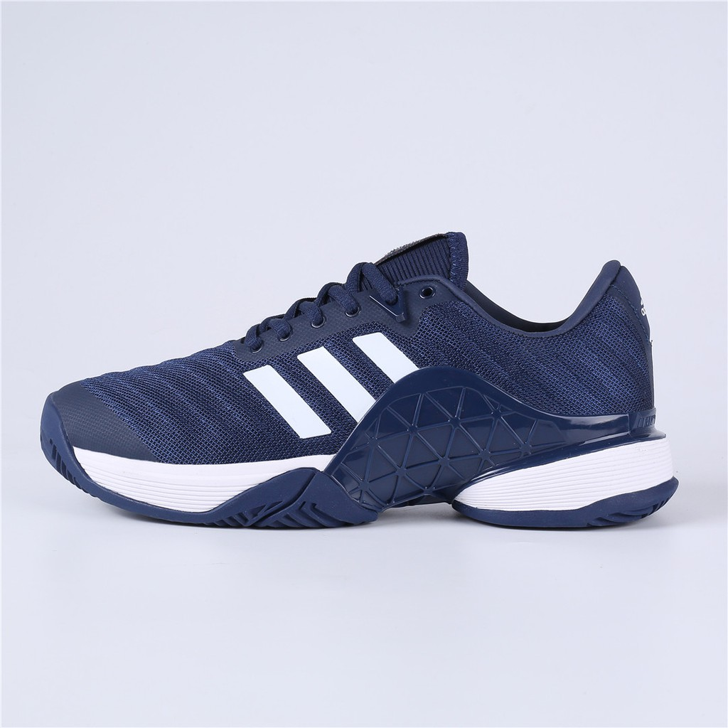 f8ccf424b7 [READY STOCK] ADIDAS Barricade 2018 Tennis shoes Navy White