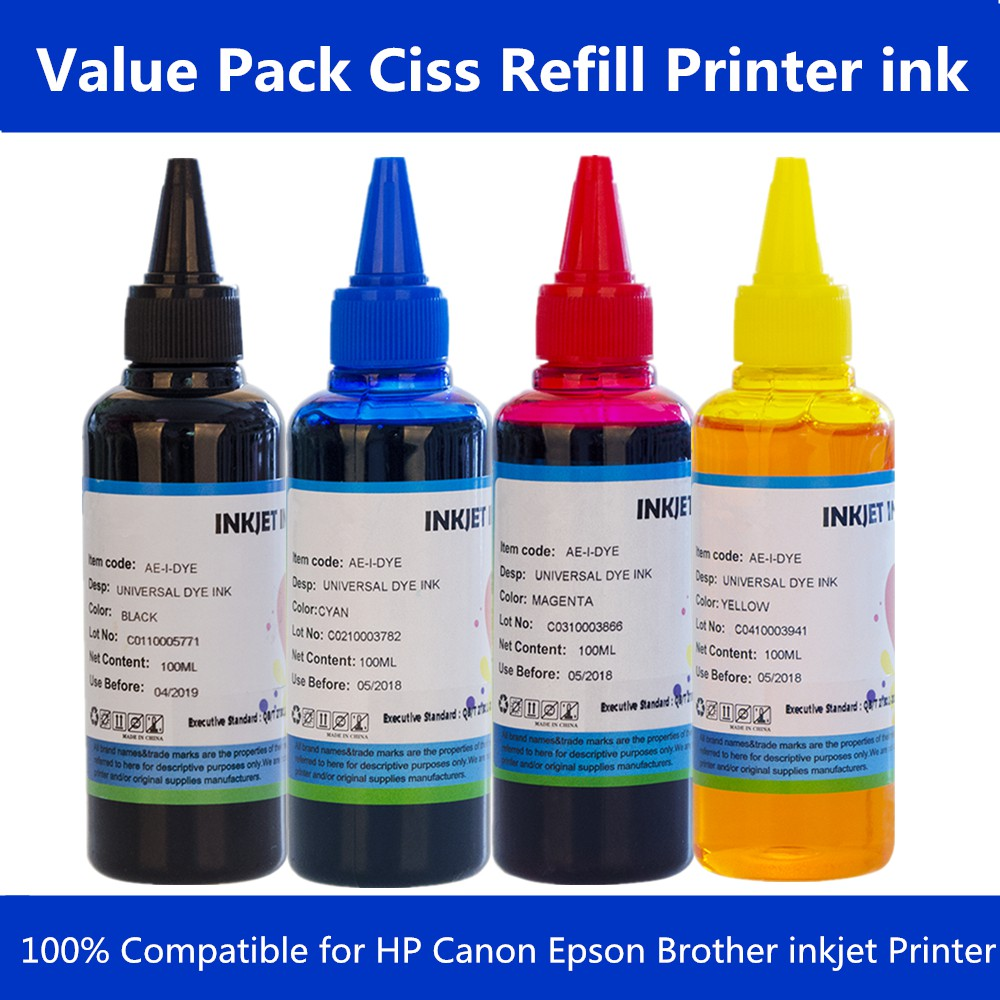 Printer Ink Ciss Ink Refill for Epson for Canon for Brother for HP inkjet  Print