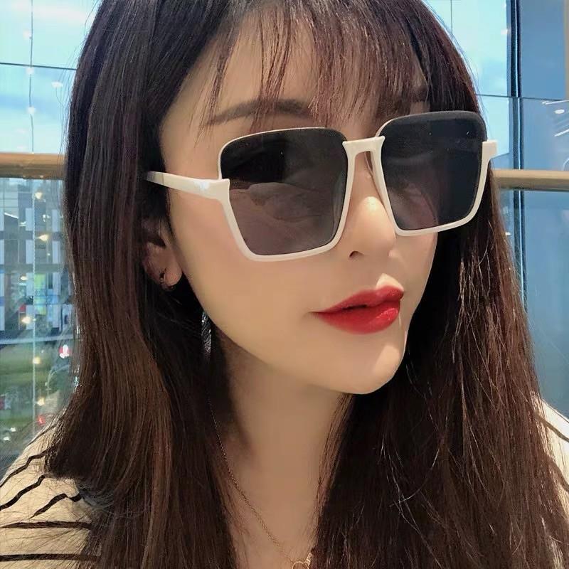 Korean Vintage Sunglasses Square Frame 太阳镜女大框明星同款网红复古韩版眼镜圆脸潮墨镜女新