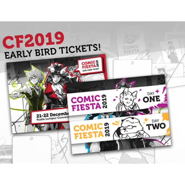 2019 Early Bird Comic Fiesta Tickets Cf ticket Ready Stock