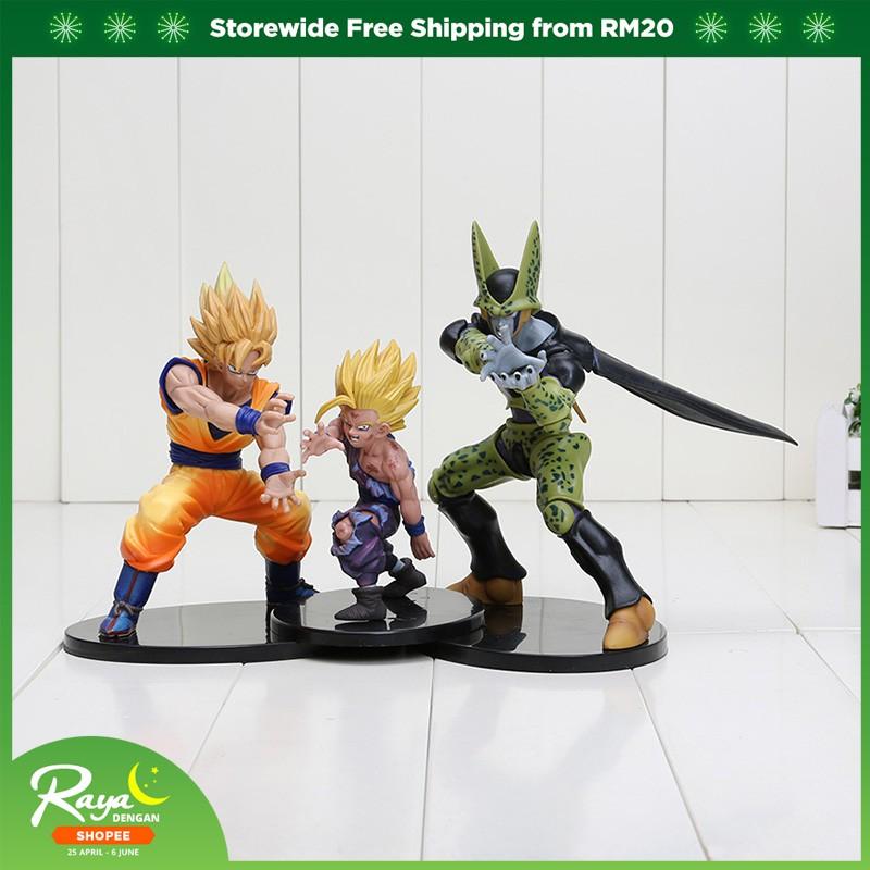 Dragon Ball Z Dramatic Showcase Super Saiyan Goku Gohan Cell Action Figures  Toys