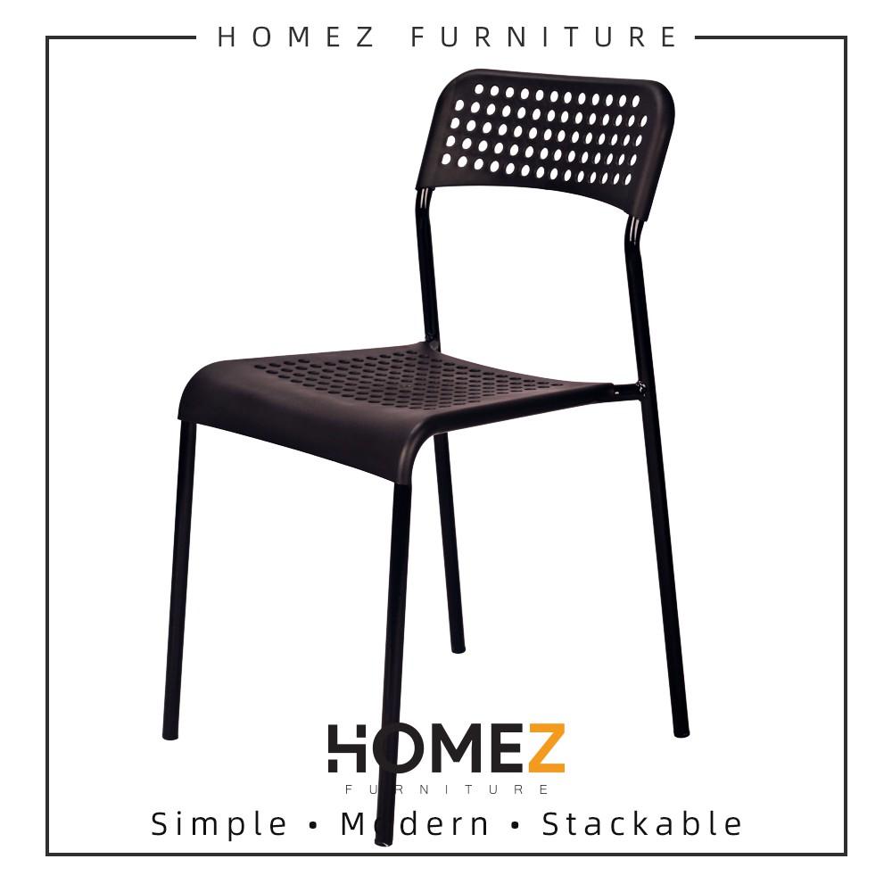 Homez Designer Chair HMZ-DC-9031 Dining Chair / Office Chair / Kerusi Makan - Black / White