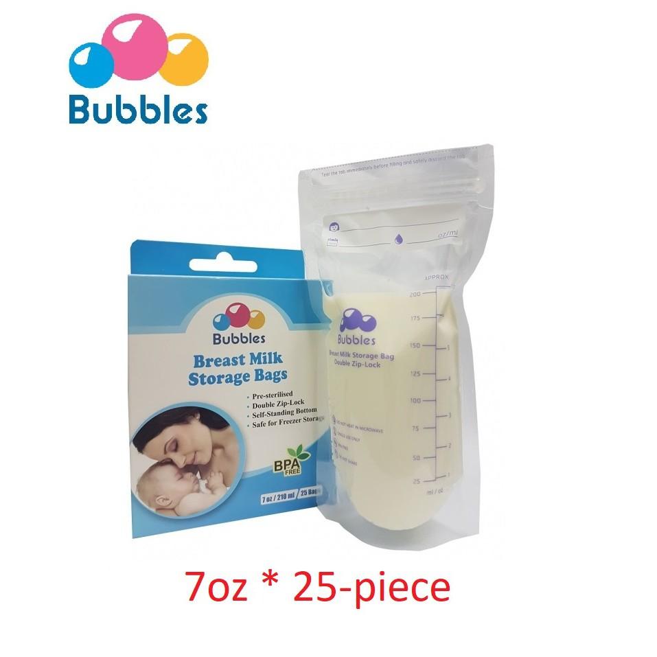 Breastmilk Storage Bags Freezer Container Leak Proof 55 Pieces Double Zip Lock