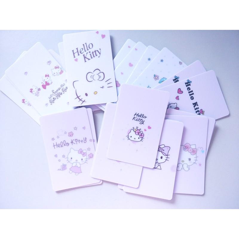 Hello Kitty Cute Card Rough Surface Sticker Touch N go Sticker