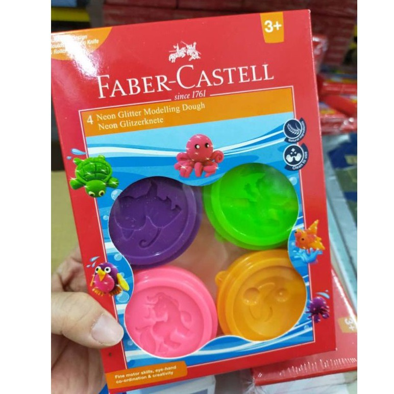 FABER-CASTELL MODELLING DOUGH 370854 pack of 4