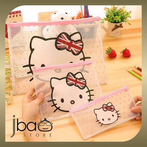 Set of 3 Hello Kitty Organizer Storage / File / Pencil Bag