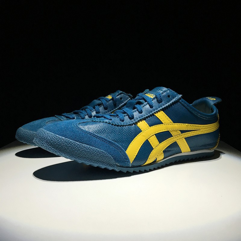 best website 9324e 865b5 [Original]Asics Shoes Onitsuka Tiger MEXICO 66 DELUXE Blue for Men Sheepskin