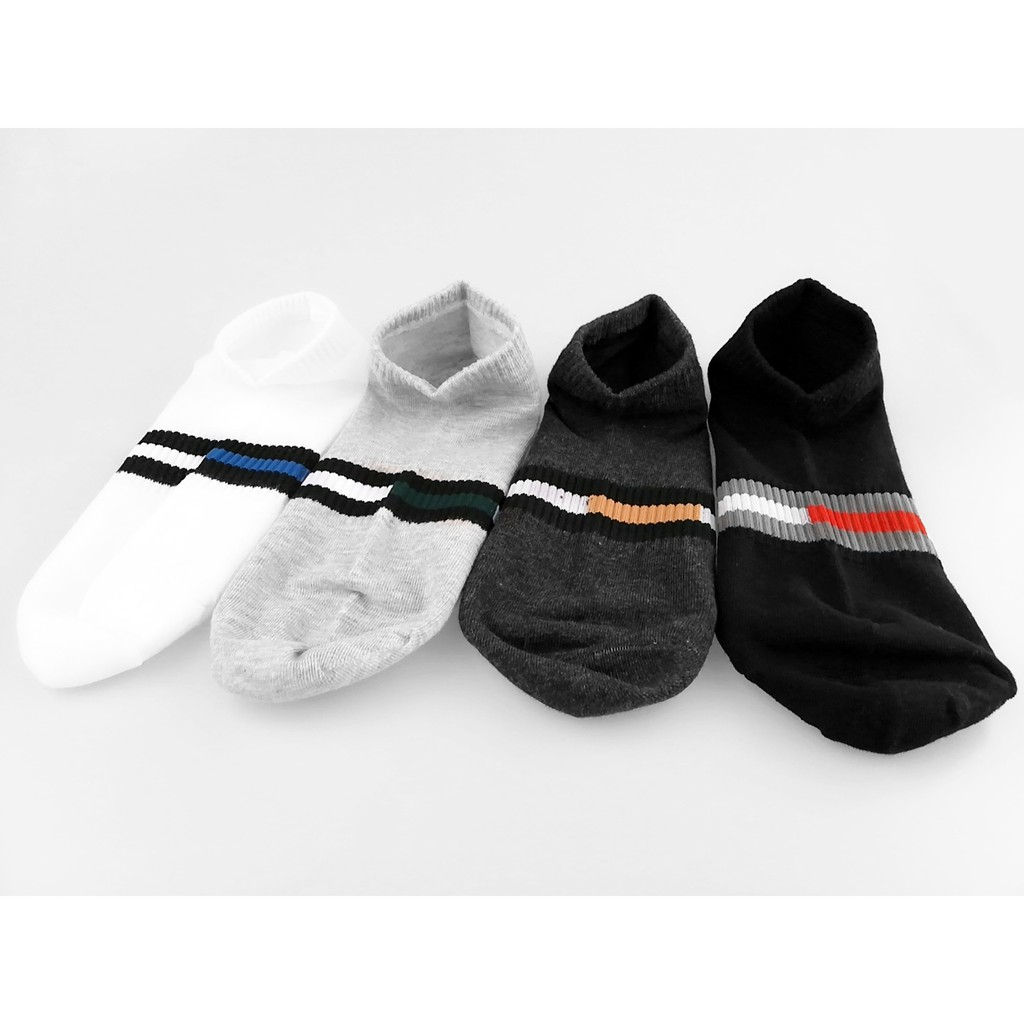 [READY STOCK] Unisex Comfortable Breathable Sport Sock Cushion Base Sock Ankle Low Cut Sport Sock - Assorted