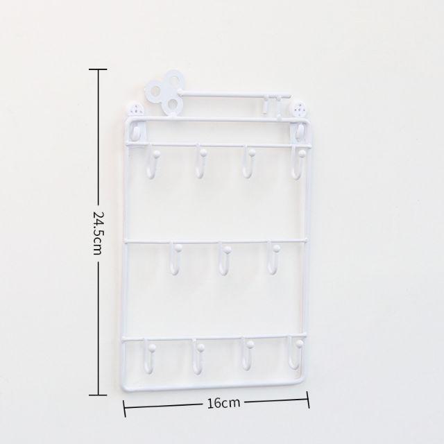 [ READY STOCK ]  Metal Wall Key Hook Iron Multi Use Metal Hanger Hat Clothing Jualan Murah Simpanan Rack Storage Space