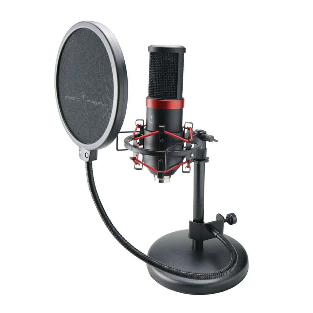 Gaming Freak Chanter Studio PRO Microphone Live Streaming Streamer Gamer Pop Filter Shock Mount Tripod Cardioid Record