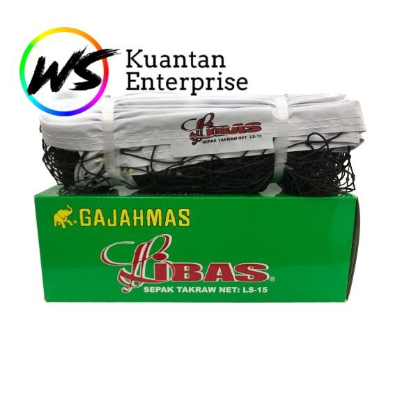 【100% Original】Gajahmas Takraw Net | Jaring Bola Takraw (LS15 / EN18)