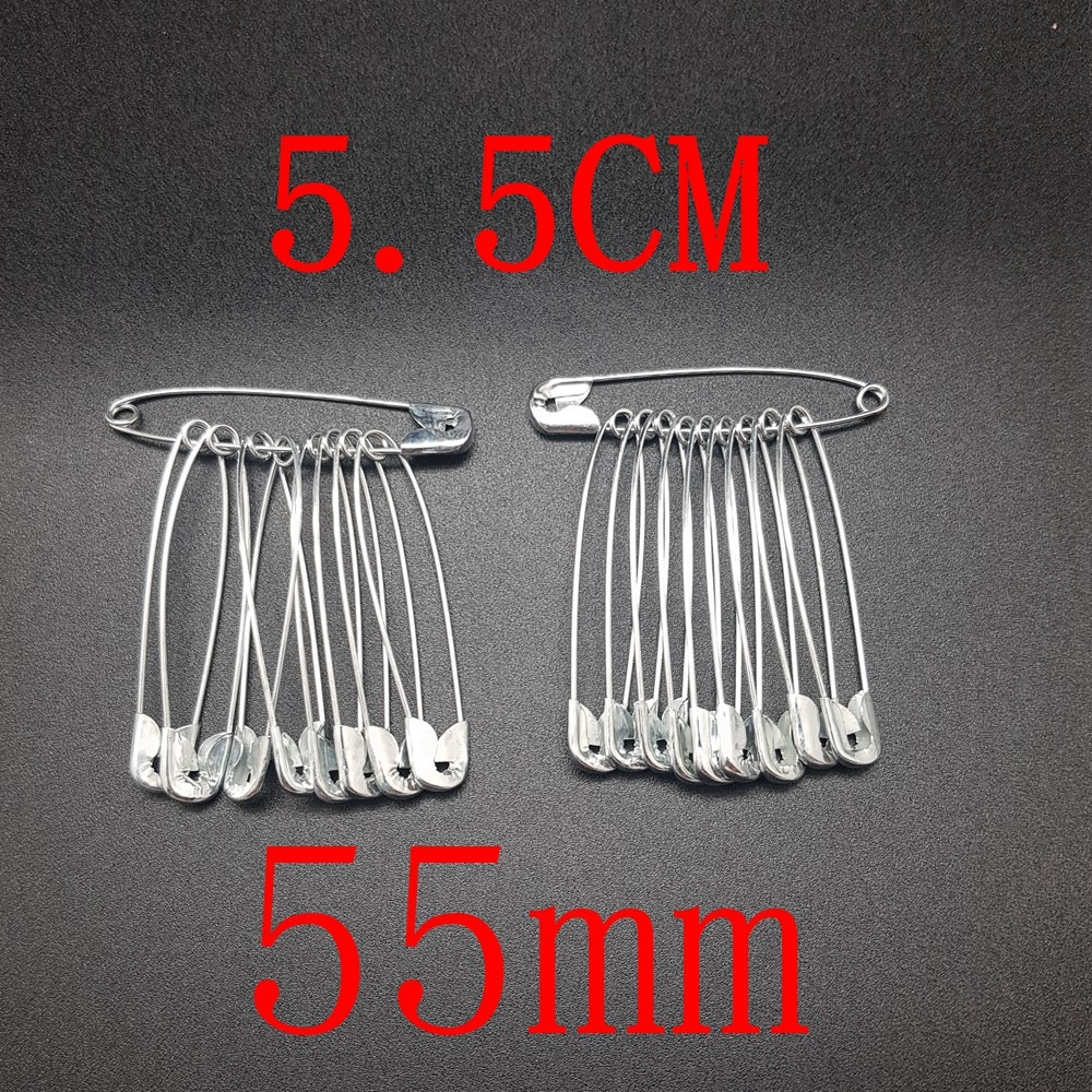 Safety Pin/Metal Safety Pins,Clothes pin/ Pin Baju/ 扣针/胸针 5.5cm(55mm) (10pcs/pkt) Ready Stock