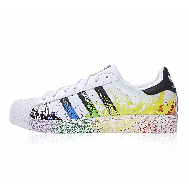 Adidas Clover Superstar Gold Label Men and Women Skateboarding Shoes  Sneakers