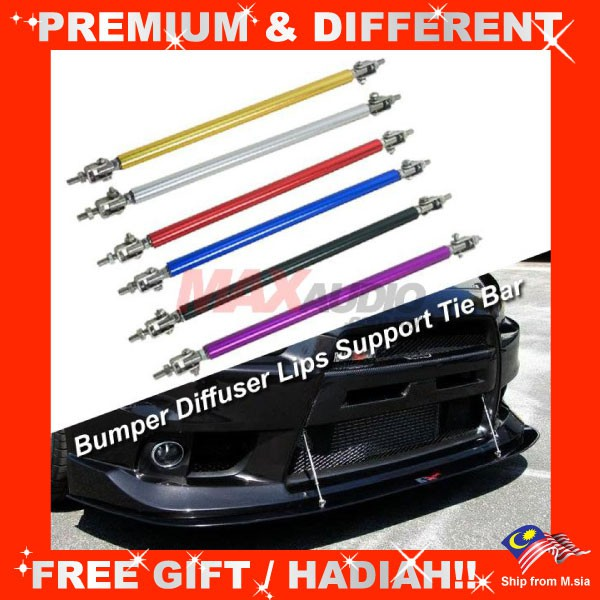 [FREE Gift] Universal Adjustable Front Bumper Diffuser Lip Splitter Strut Tie Bar Support Rod (2pcs/Set)