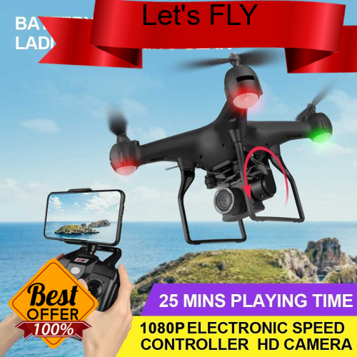 Great Discount F68 RC Drone 2.4G RC Quadcopter 25mins Flight Time 6-axis Gyro 3D Flip Altitude Hold Headless Mode Aircr