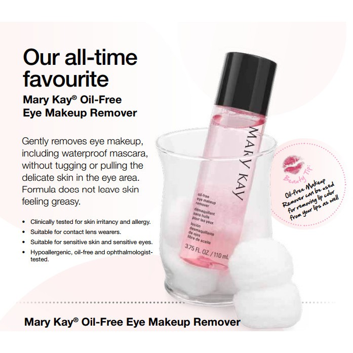 Ready Stock Mary Kay Oil Free Eye Makeup Remover 110 Ml Shopee