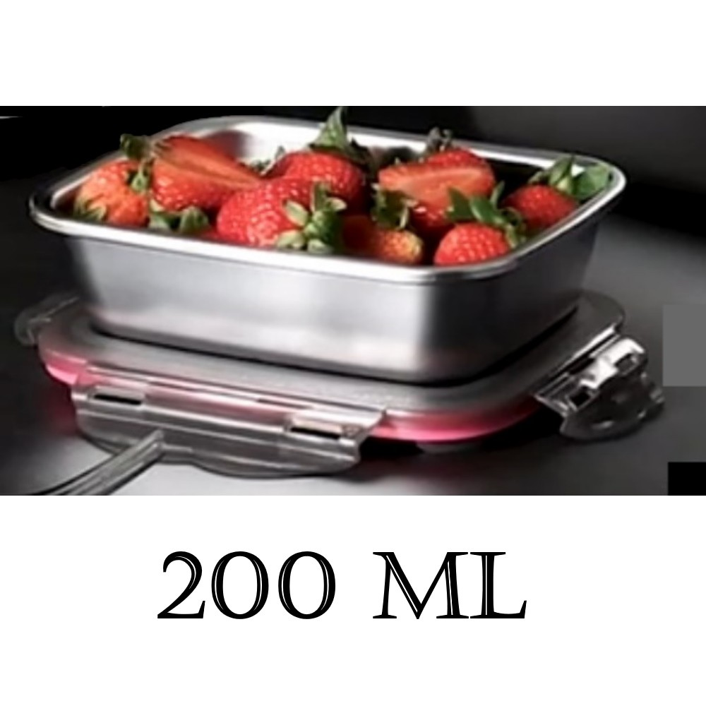 Kingsman 3pcs Set Stainless Steel 304 Thermal Insulated Lunch Box Food Container Quality tupperware can put in Microwave