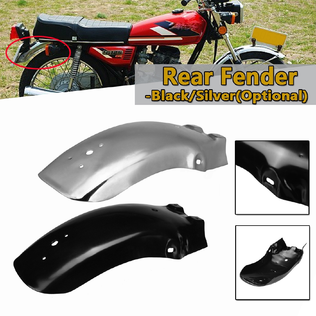 Durable New Black Iron Motorcycle Retro Front Fender Protection For Honda CG125