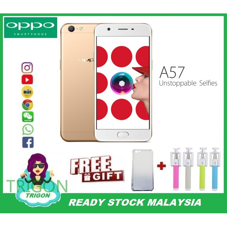 Oppo A57 3GB RAM+32GB ROM 1 Year Warranty By Distributor