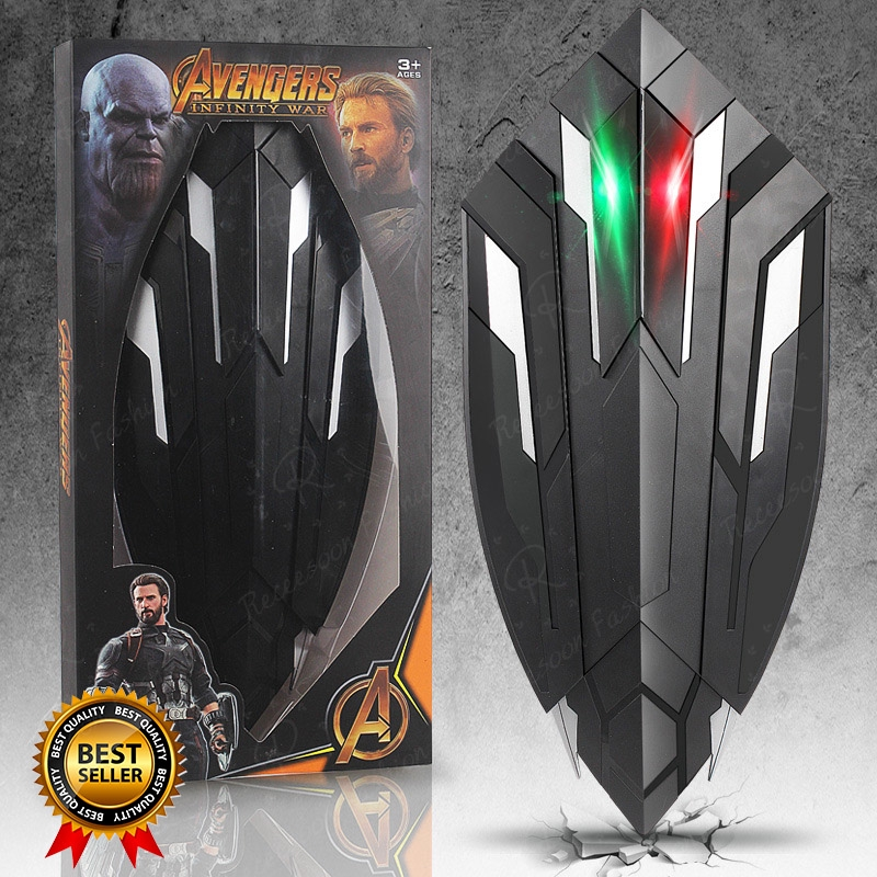 1 1 Avengers Captain America Shield Black Panther Weapons Toys Cosplay Costume Shopee Malaysia