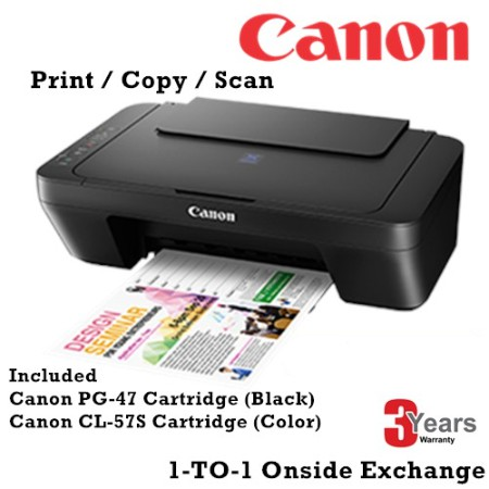 Canon Pixma E410 All in One Printer ( PG-47 & CL-57s Cartridge Included )
