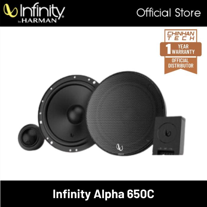 INFINITY Alpha 650C 6.5inch 2-Way Component System Speakers 45W RMS, 315W Peak